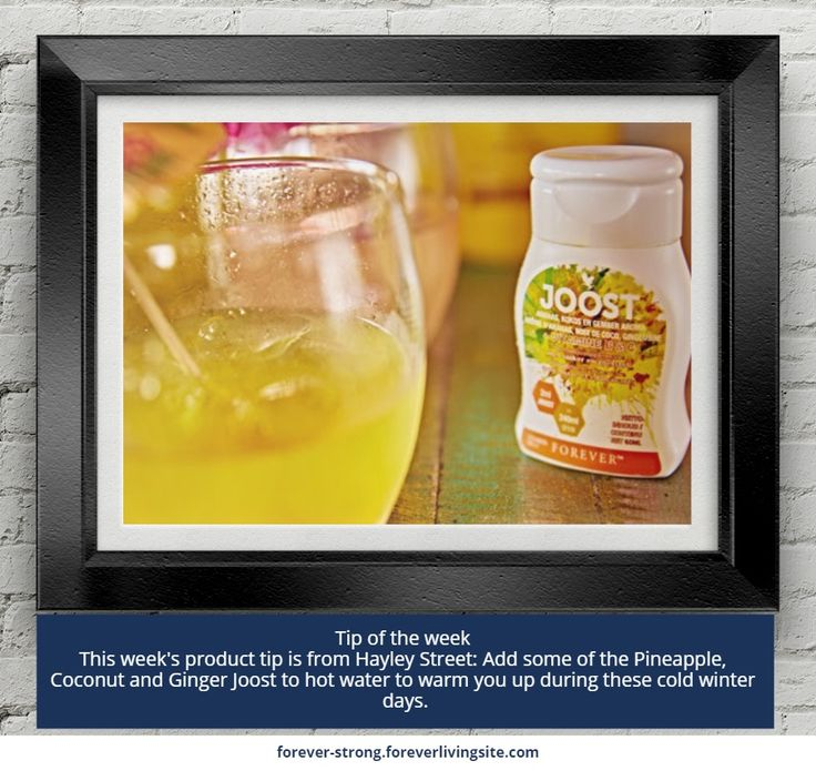 Tip of the week   This week's product tip is from Hayley Street: Add some of the Pineapple, Coconut and Ginger Joost to hot water to warm you up during these cold winter days.     http://link.flp.social/LAAcxE