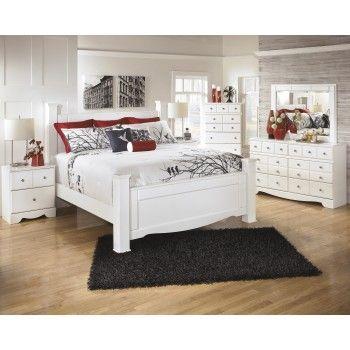 Weeki 8 Pc. Bedroom   (4 Pc. Queen Poster Bed, Dresser,