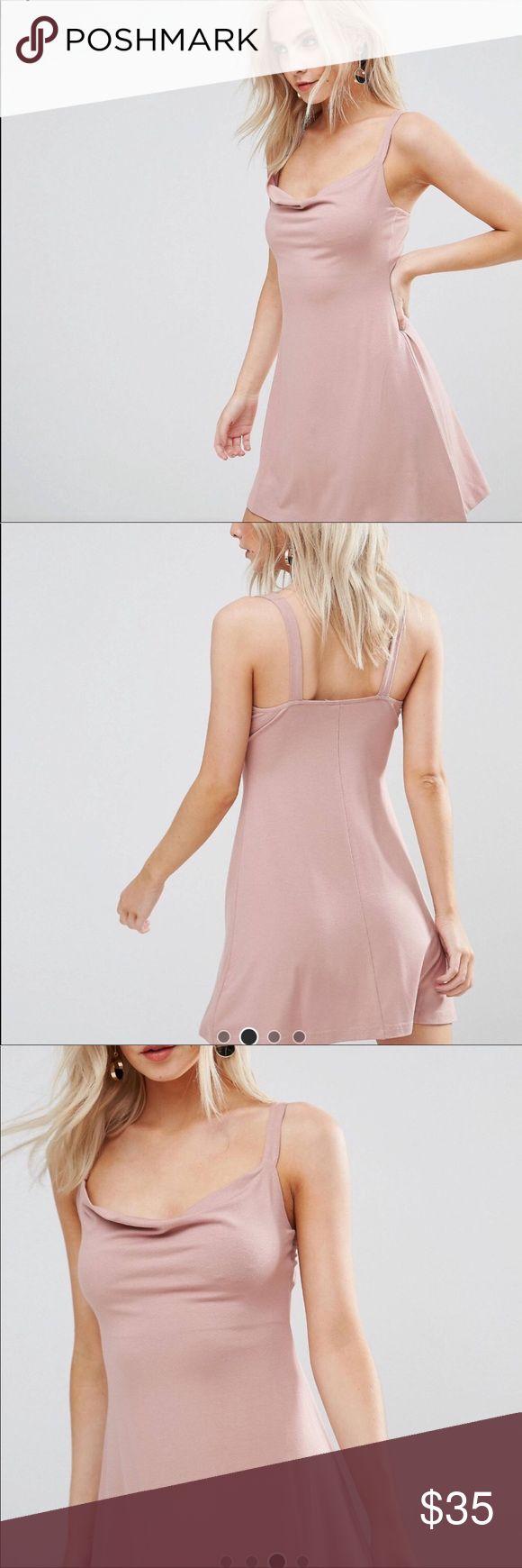 ASOS PETITE Mini Cowl Swing Dress * New without tag. No flaws. ASOS Petite Dresses Mini