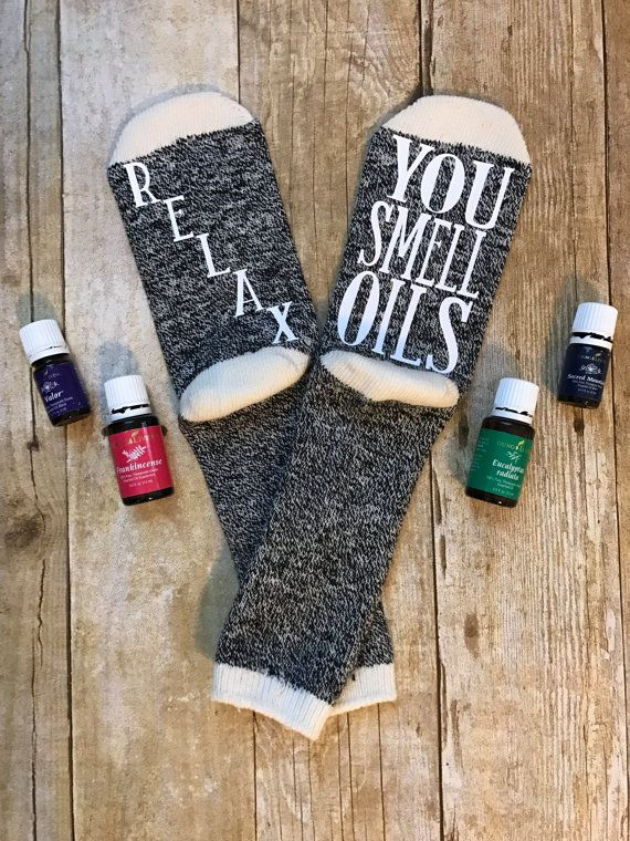 You Smell Oils Attitude Socks by NWDreamsDesign on Etsy