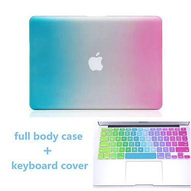 degradado de color de alta calidad caja dura de cuerpo completo y TPU cubierta del teclado para el aire del macbook 13.3 pulgadas – EUR € 23.99