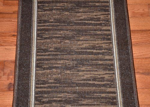 Dean Washable Carpet Rug Runner Boxer Chocolate