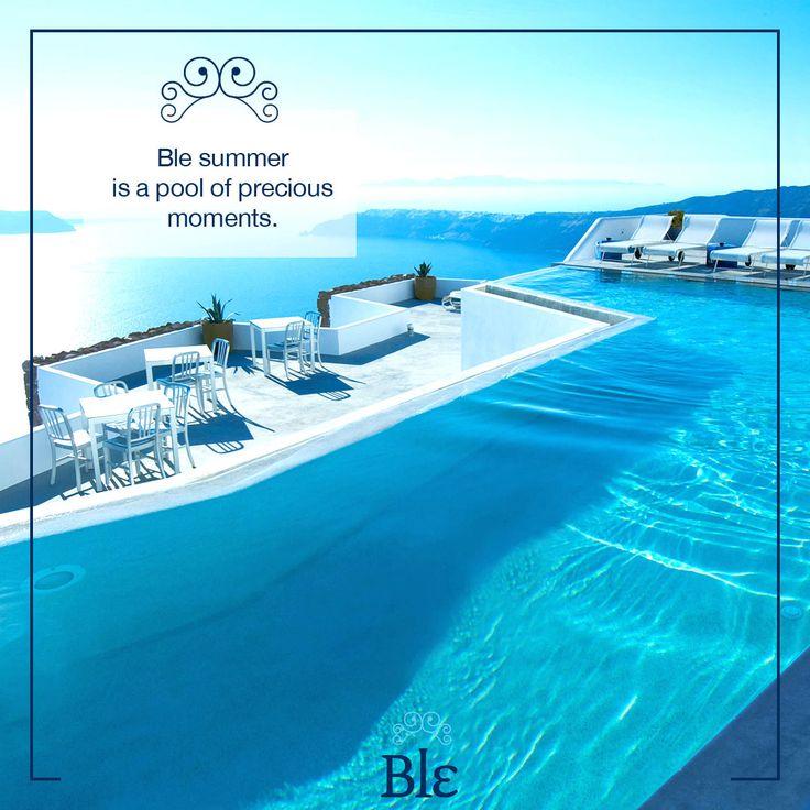 Enjoy every minute of summer!  #BleSummer #PreciousMoments #Greece #GreekIslands #SummerStyle #Fashion #Holidays