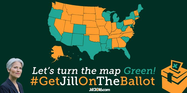The Jill Stein campaign is working nationally with state Green Parties and teams of volunteers to give all voters the chance to vote for Jill and the Green Party in 2016. Help us overcome ballot-access laws that keep good candidates off the ballot!