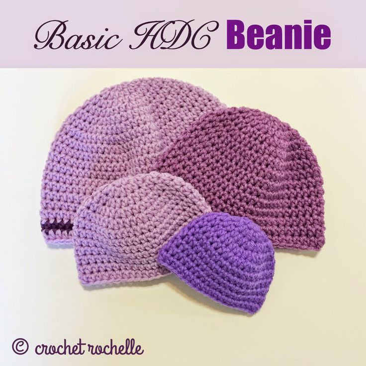 Crochet Hat Pattern Half Double Crochet Manet For