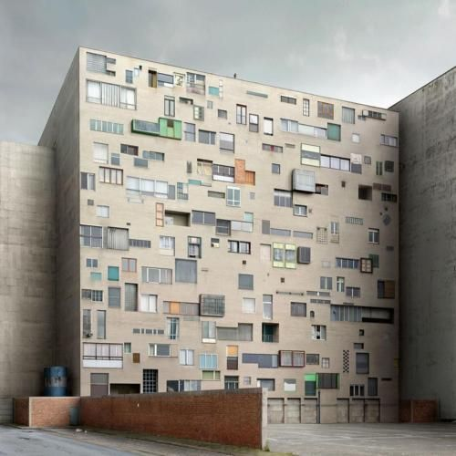 Recycled facade by Filip Dujardin