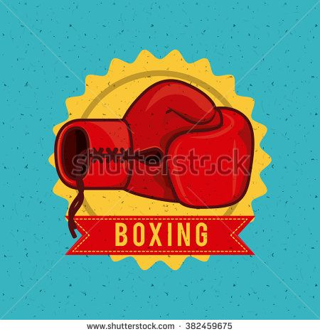 boxing sport design  - stock vector
