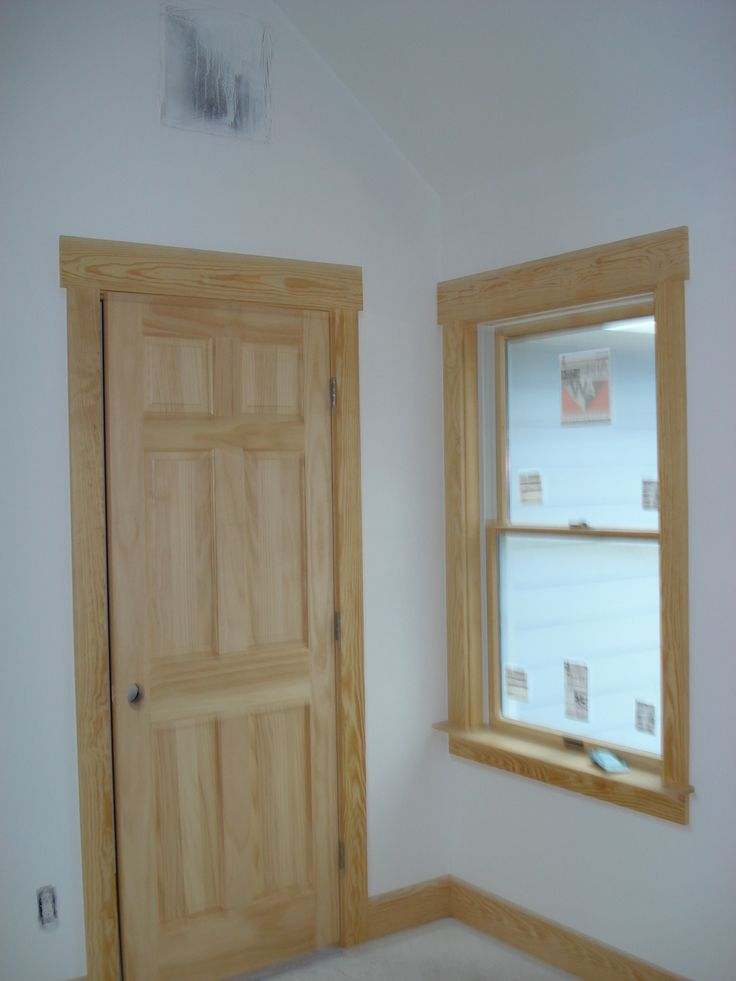Window Casing Door Casing And Baseboard Were All Made