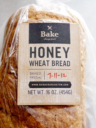 Bake printed labels on bread