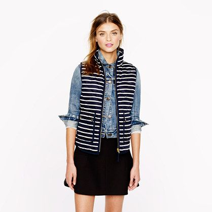 J.Crew - Excursion quilted vest in stripe