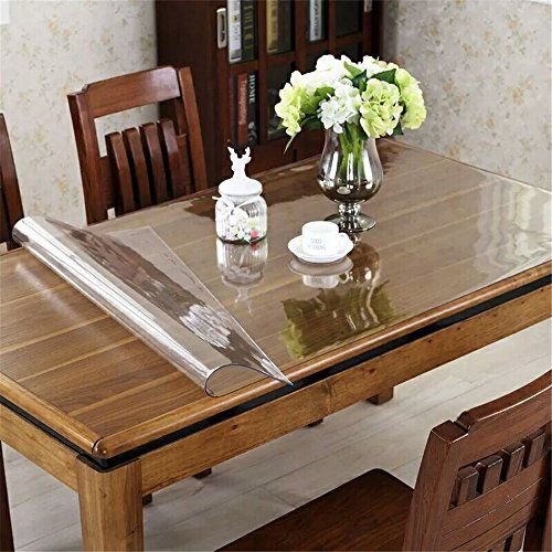 OstepDecor Custom 1.5mm Thick Crystal Clear Table Cover for ...