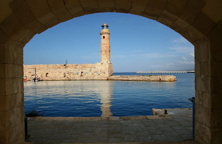 Lighthouse in Rethymno Port