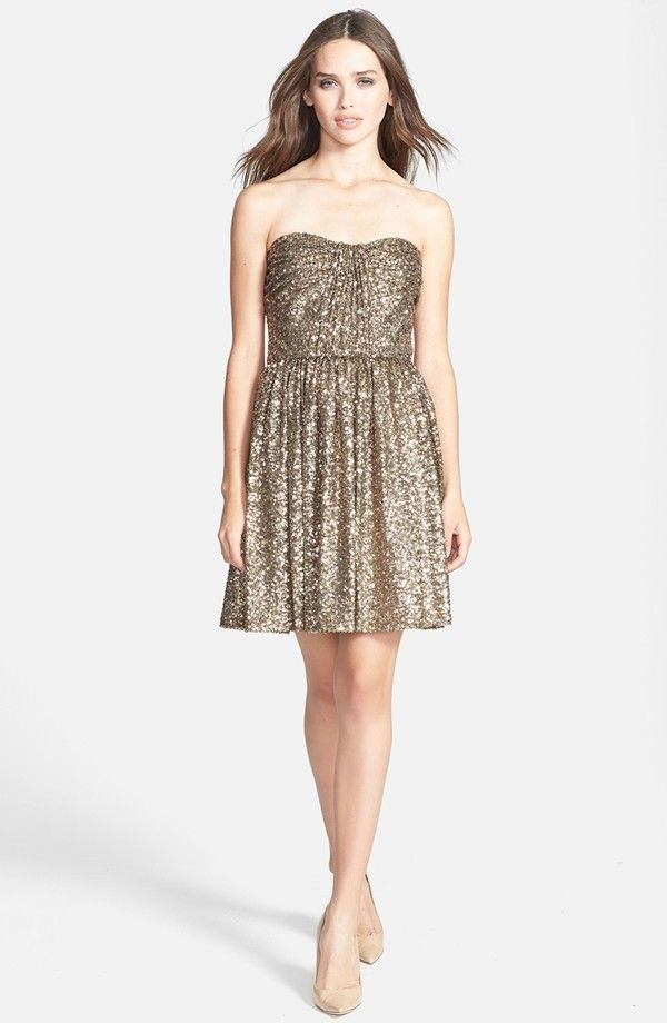Glitzy Gold Dress from Nordstrom