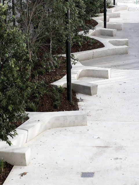 concrete urban bench