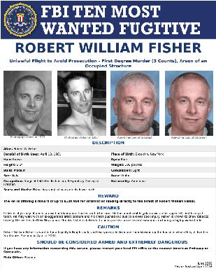 Robert William Fisher is wanted for murder.