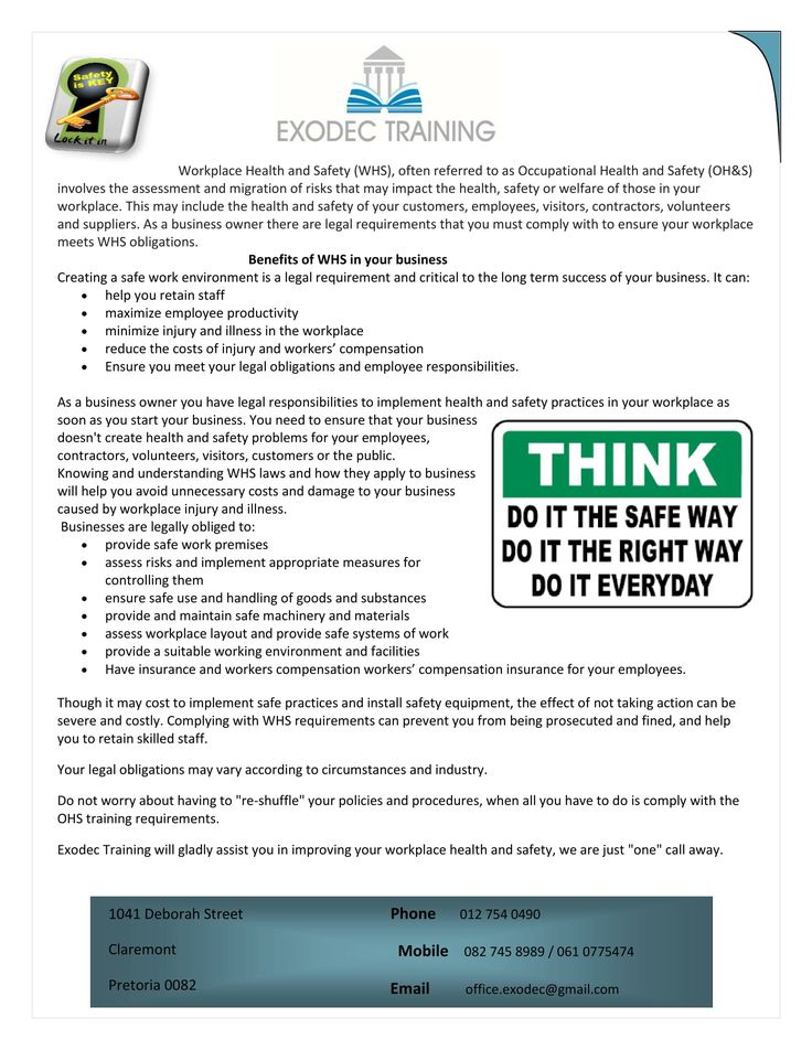 ensure a safe workplace 2 essay Price calculator document type.