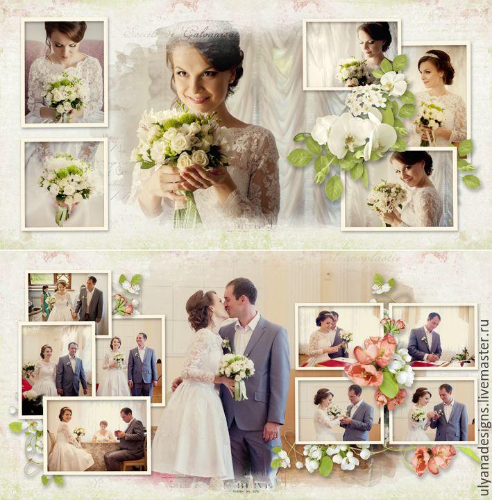 """Купить Фотокнига """"День свадьбы"""" - фотокнига, свадьба, свадебная фотокнига, фотоколлаж, индивидуальный дизайн"""