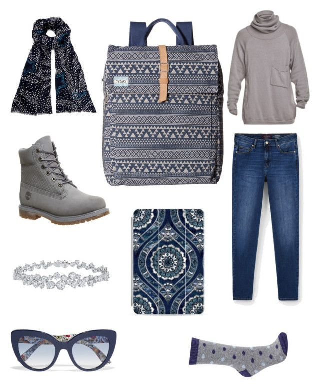 """plus size backpack"" by aleger-1 on Polyvore featuring MANGO, Timberland, Harry Winston, Diane Von Furstenberg, Dolce&Gabbana, TOMS, Casetify, John Lewis, backpacks and contestentry"