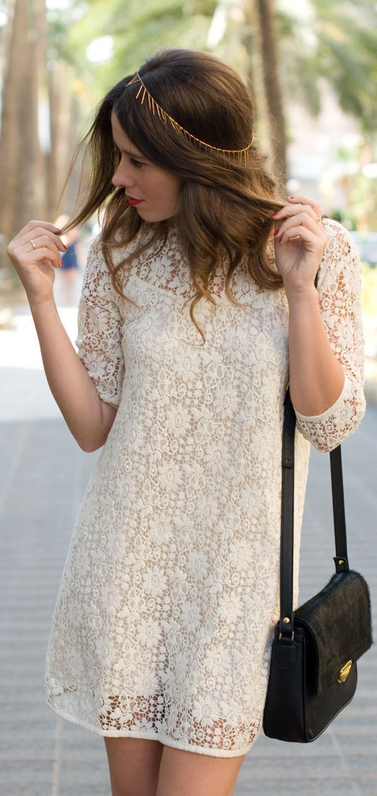 Golden Lace Dress & Headband by Macarena Gea// can I have it??! please??