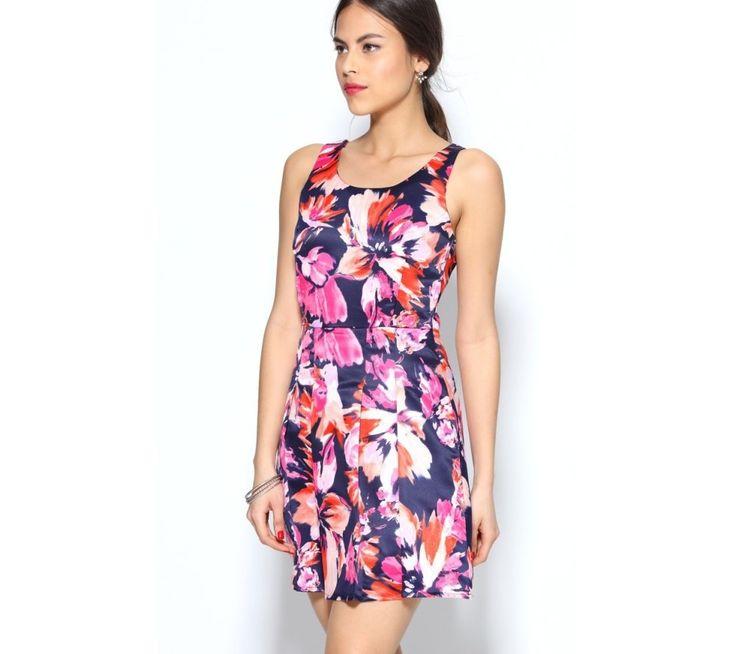 Šaty s potiskem a skládanou sukní | modino.cz #ModinoCZ #modino_cz #modino_style #style #fashion #dress