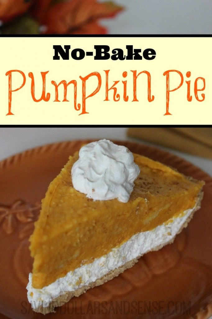 No Bake Pumpkin Pie is SO easy to make and everyone loves it too!