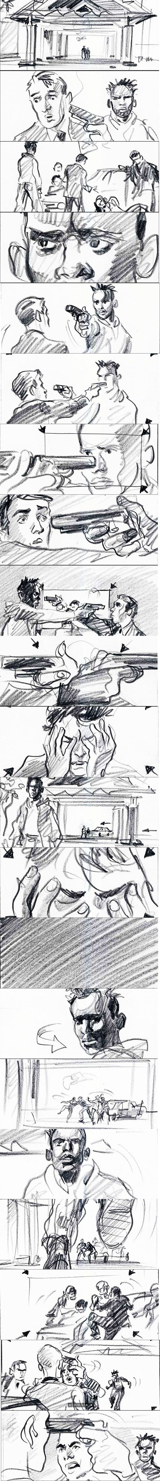 LaHaine-MatthieuKassovitz_MaximeRebiere-StoryBoard. OMG the linework is so rough but still so incredibly realistic!!!