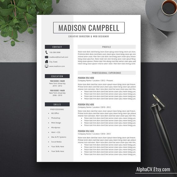308 best Resumes Ideas & Templates images on Pinterest | Resume ...