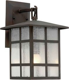 Forte Lighting 1219-01 Outdoor 8Wx16.25Hx9E Wall Sconce Antique Bronze Outdoor Lighting Wall Sconces Outdoor Wall Sconces