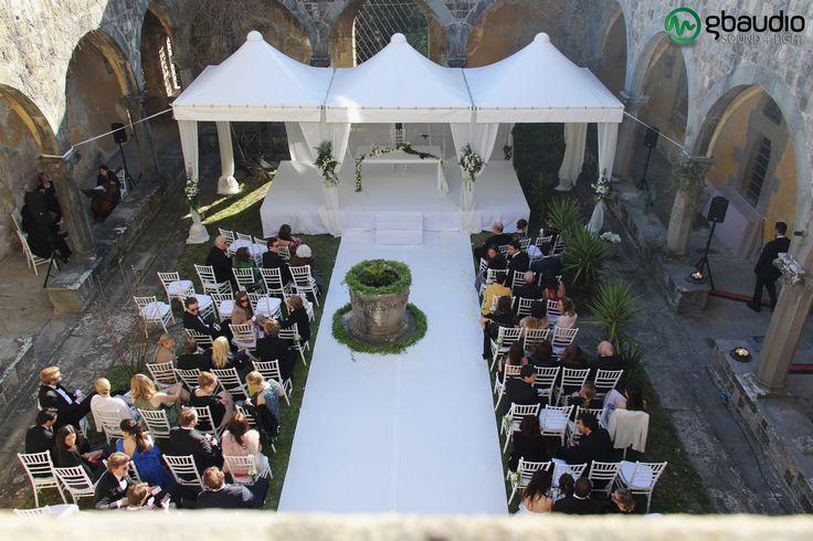 Sound for wedding ceremony al Castello di Vincigliata - Florence, Italy