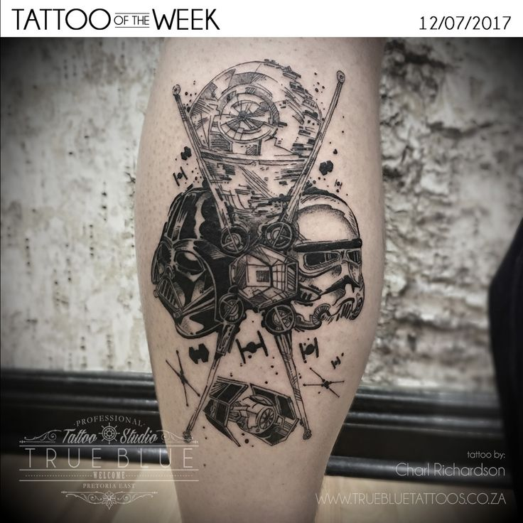 "TATTOO OF THE WEEK: ""Star Wars"" by Charl Richardson of True Blue Professional Tattoo Studio"