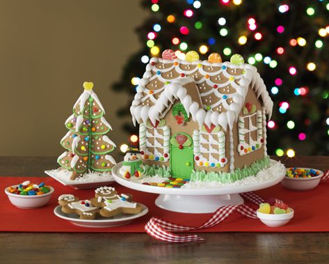 Gingerbread House Kits and Accessories for Everyone: Create-a-Treat Pre-Built Gingerbread House Kit