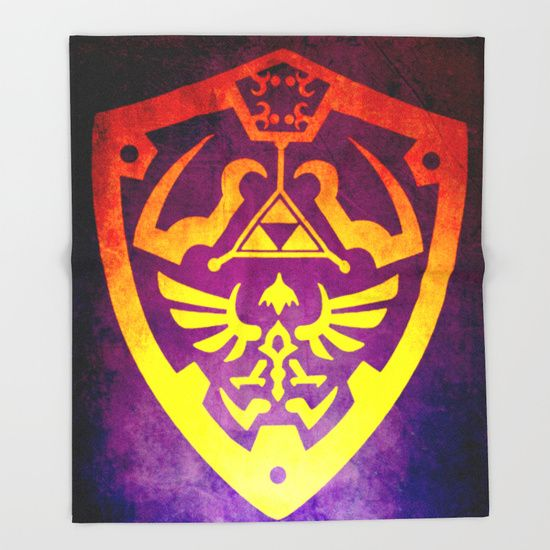 Zelda Shield II Throw Blanket  #society6  #throwblanket #blanket   #homedecor #homegifts #giftsforhim #giftsforher #bachelorhome #gaming #gamer #gamersroom #zelda #geek #nerd