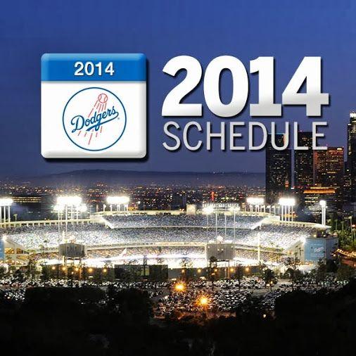 Los Angeles Dodgers 2014 Schedule