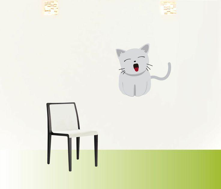 gatochino #decoraconvinil #vinilosdecorativos #decoracion #decoratupared #gato