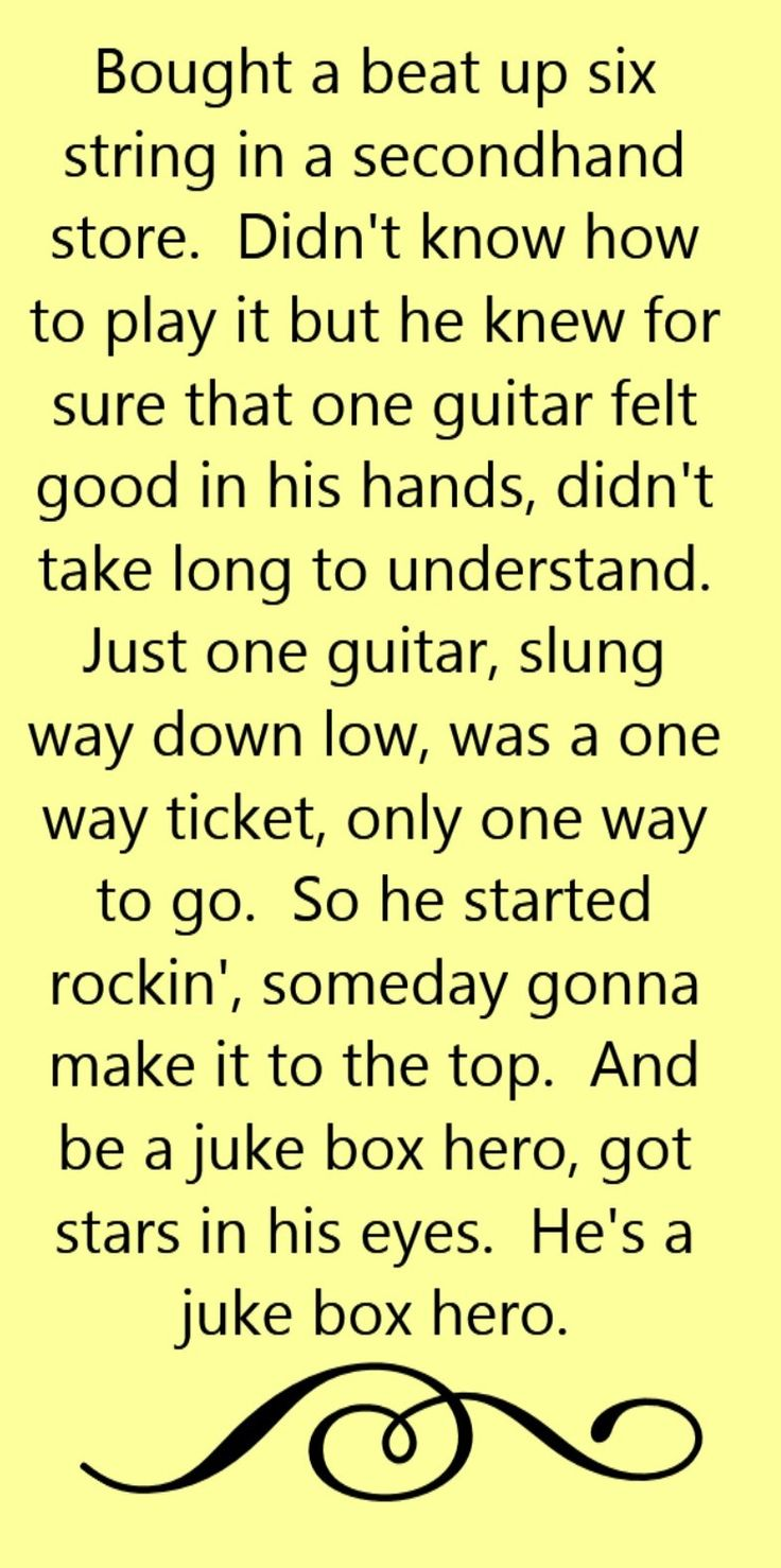 Foreigner - Juke Box Hero - song lyrics, song quotes, songs, music lyrics, music quotes,