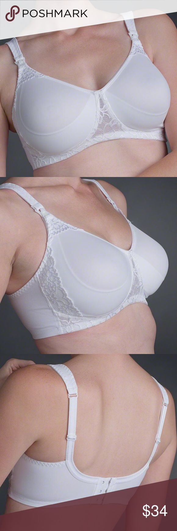 A N I T A • B R A Brand new just removed the tags! retails $76  The Anita nursing bra is a seamless molded cup bra that provides excellent support without an underwire.   Features: Soft, breathable microfibre with stretch lace. Stretch and adjustable straps, firmly attached to the breast support Cups C-H, 32-48 Perfect fit through to the larger sizes Straps get wider with increasing size for more support 3-position back-fastener  75% Nylon, 25% Elastane Anita Intimates & Sleepwear Bras