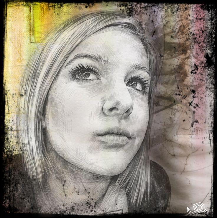 Pencil drawing | mixed media *Julia*