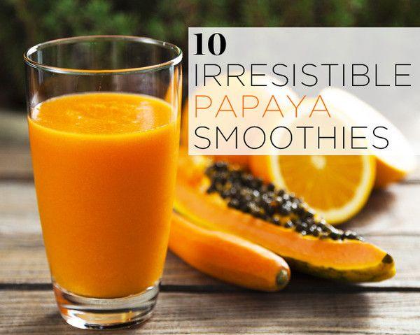 10 Irresistible Papaya Smoothies