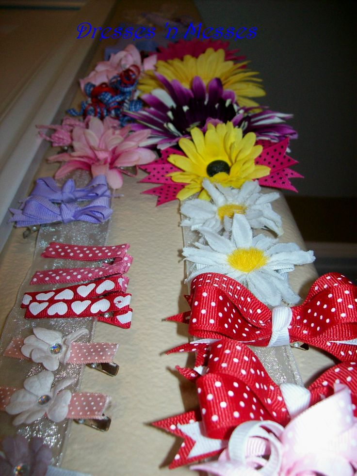 Free Homemade Hair Bows Instructions | Supplies needed for bows : ribbon, hot glue, florist wire, fray ...