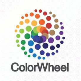 Exclusive Customizable Colroful Dots Logo For Sale: Color Wheel | StockLogos.com