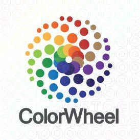 Exclusive Customizable Colroful Dots Logo For Sale: Color Wheel | StockLogos.com