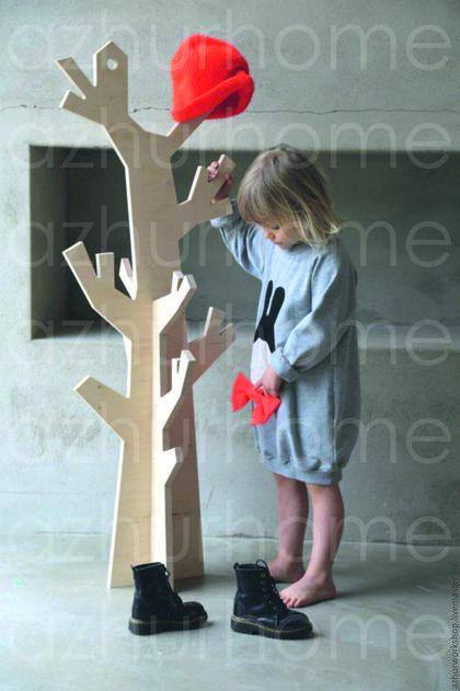 Детская ручной работы. Ярмарка Мастеров - ручная работа. Купить Детское декоративное дерево-вешалка. Handmade. Бежевый, детям, для детей