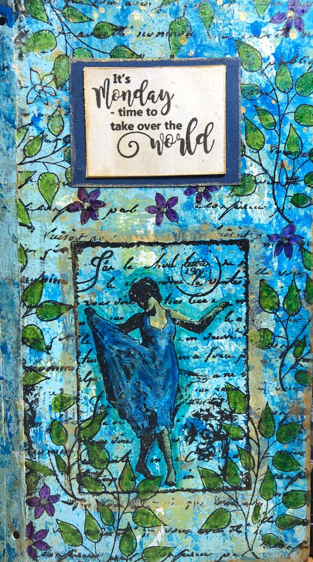 * Rubber Dance Blog *: Mixed Media Art Journal Page with Stamps