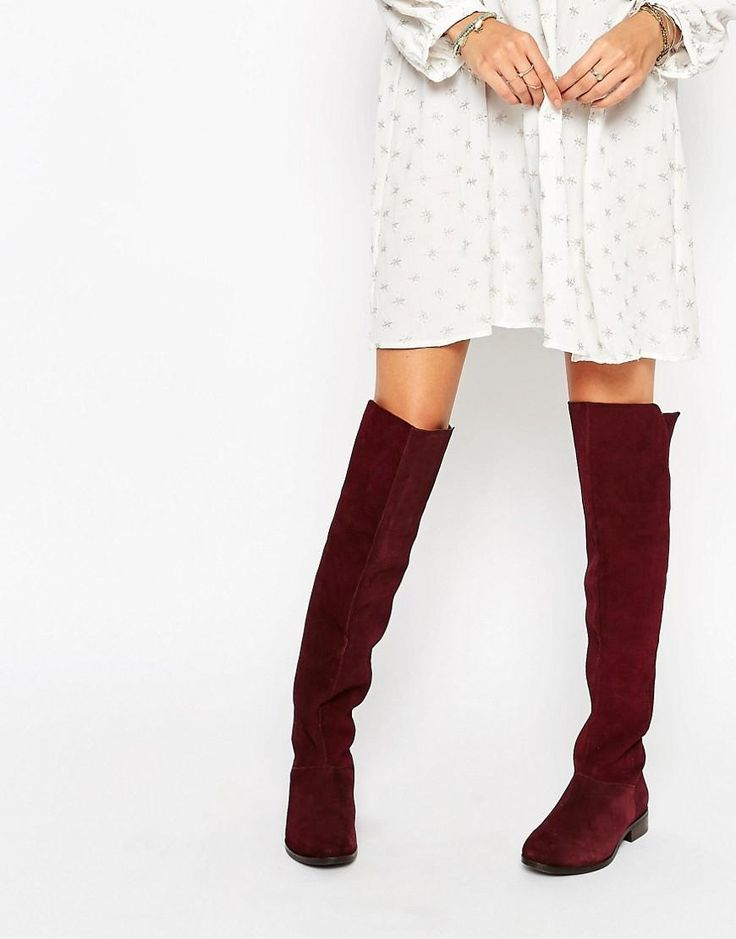 ASOS   ASOS KIMBER Leather Stud Over The Knee Boots at ASOS