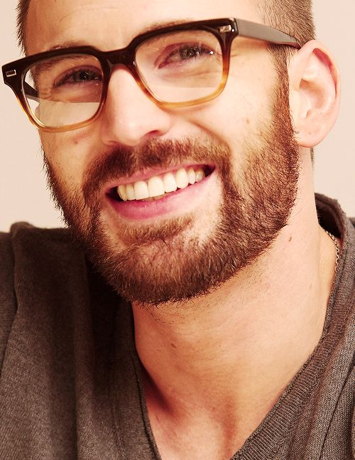 Chris Evans. I wonder if these are real or if he's just trying to be a nerd