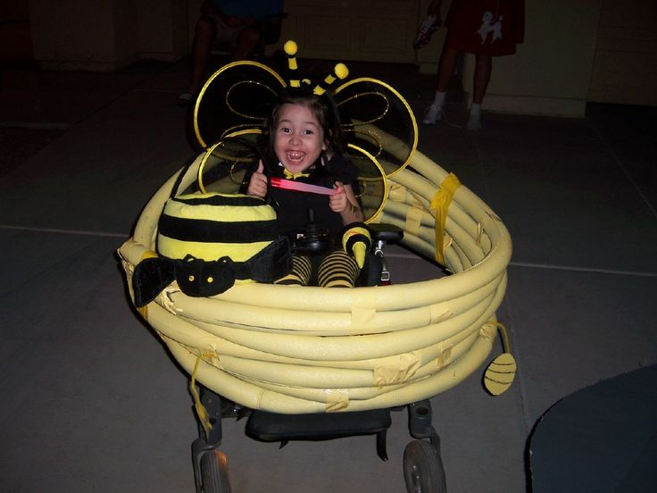 Bee in a hive Halloween wheelchair costume