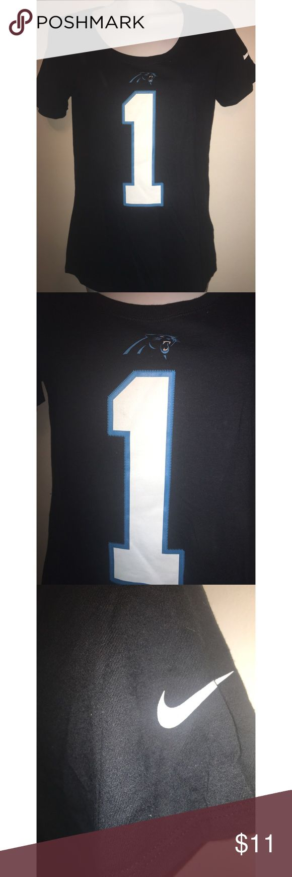 small Nike T shirt Athletic cut Carolina panthers small The Nike tee Athletic cut Cam Newton  Carolina panthers NFL This shirt is approximately 17 inches across and 25 inches long Nike Tops Tees - Short Sleeve