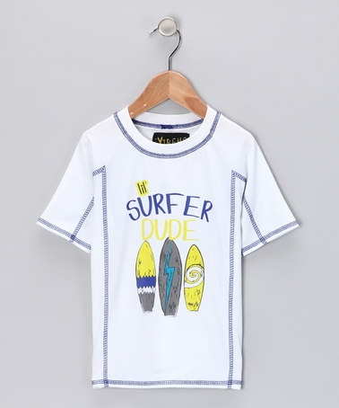 Take a look at this White 'Surfer Dude' Rashguard - Infant & Boys by Pink Platinum & iXtreme on #zulily today!