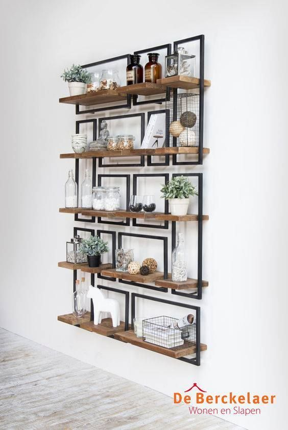 pretty shelving, a little busy though.
