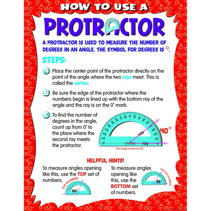 HOW TO USE A PROTRACTOR CHART